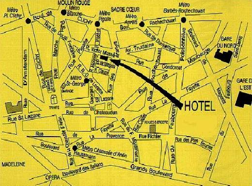 Hotel migny opera montmartre paris discount hotel for Location hotel a paris